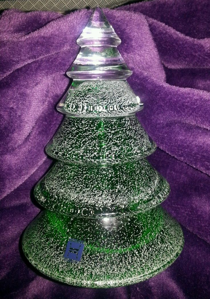 Hadeland Norway Glass or Crystal Christmas Tree Paper Weight or Ornament | eBay