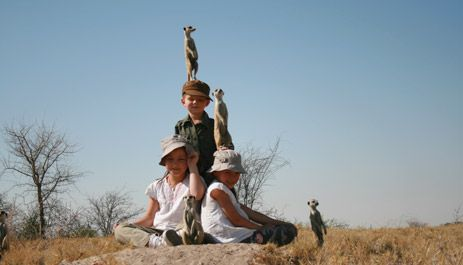 Children on safari