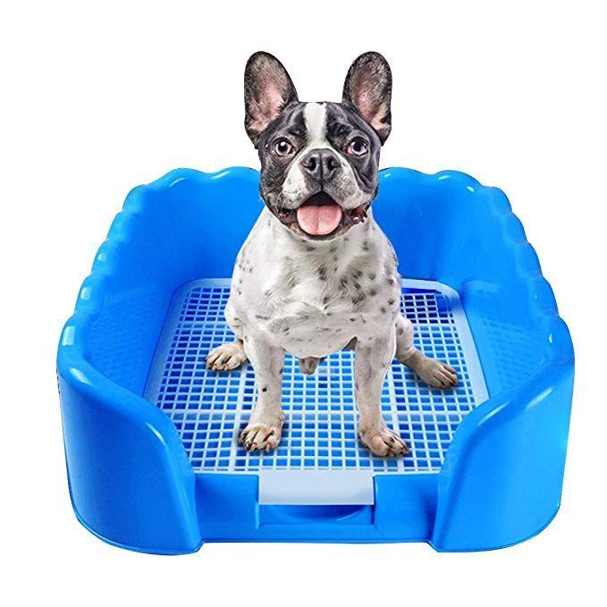 Kunfort Dog Puppy Potty With Fence Puppy Training Pad Holder