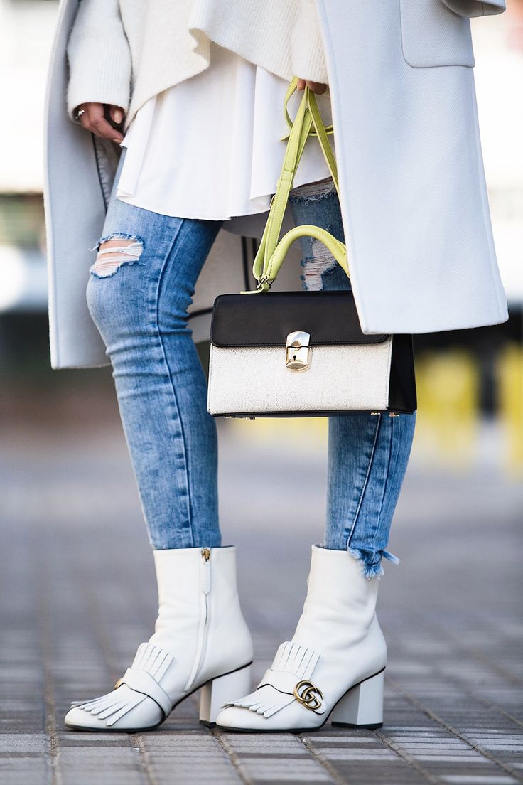 white Gucci boots