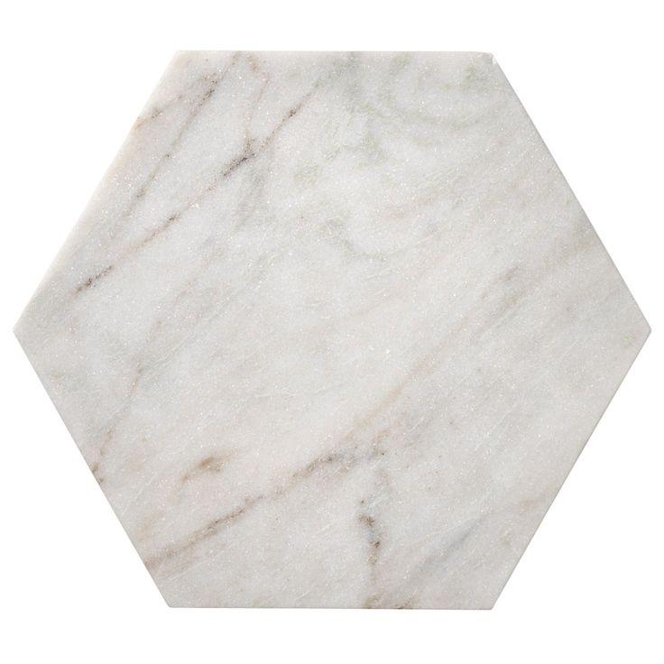 Marble Hexagon tarjotin, M – Bloomingville