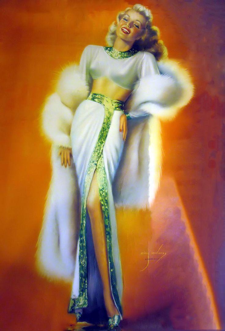 Great American Pin-up Rita Hayworth Billy Devorss | Pin Up ...