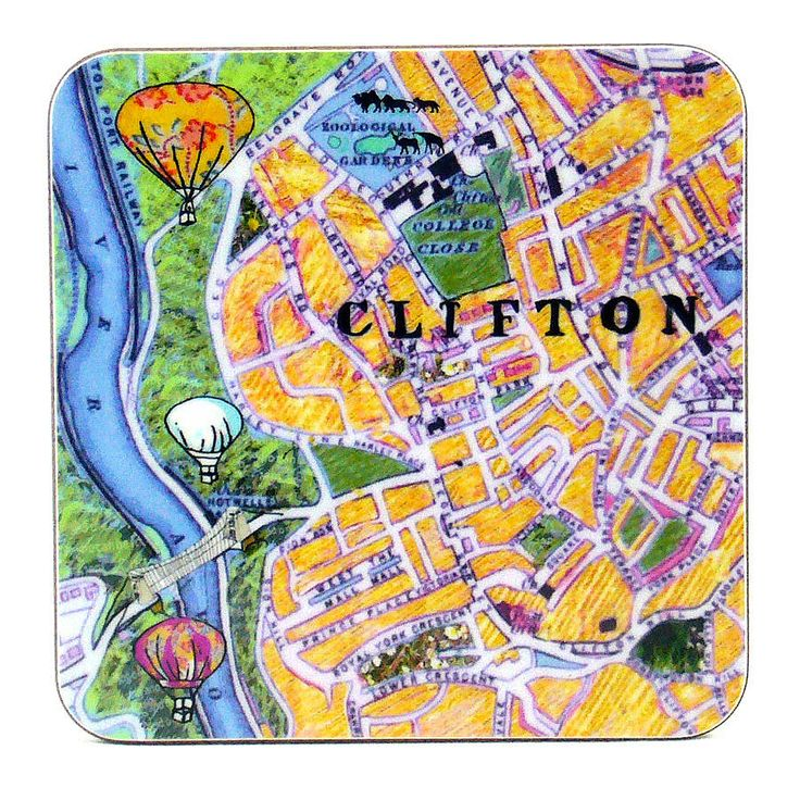 set of six bristol map coasters by emmeline simpson | notonthehighstreet.com