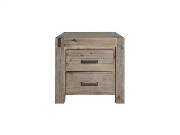 PK Furniture  Silverstrike BEDSIDE TABLE, GREY WASH