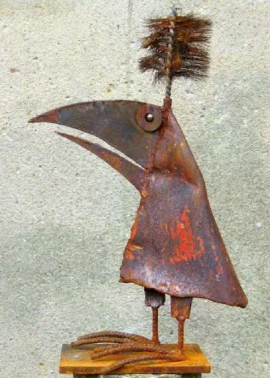 Ber ideen zu metall gartenskulpturen auf pinterest for Rostiges eisen im garten