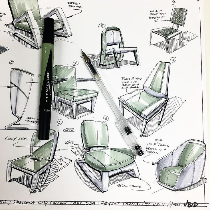 243 best images about on pinterest sketching behance for Furniture design sketches