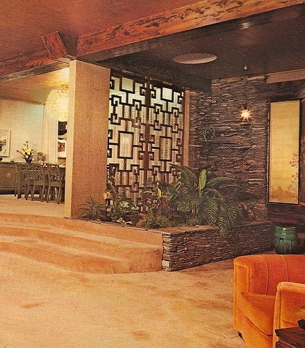 1970s Architectural Digest - The grille divider is excellent!