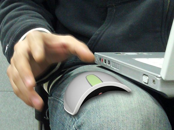 """""""The Anywhere Mouse"""" // Use a full sized mouse in any surface, even on your jeans!"""