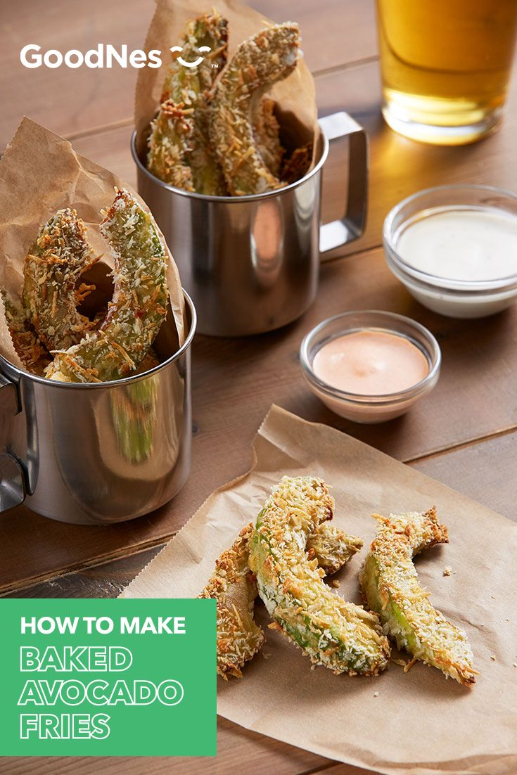 Try these Baked Avocado Fries as a tasty new twist on french fries, featuring Buitoni® Refrigerated Freshly Shredded Parmesan Cheese. See GoodNes.com for more recipes.