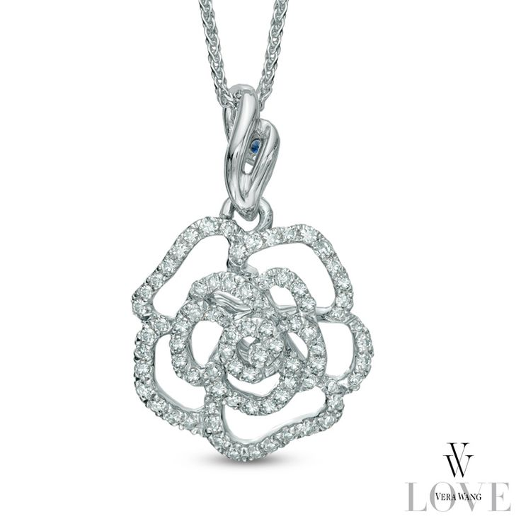 Vera Wang Love Collection Rose Pendant Jewelry For Her