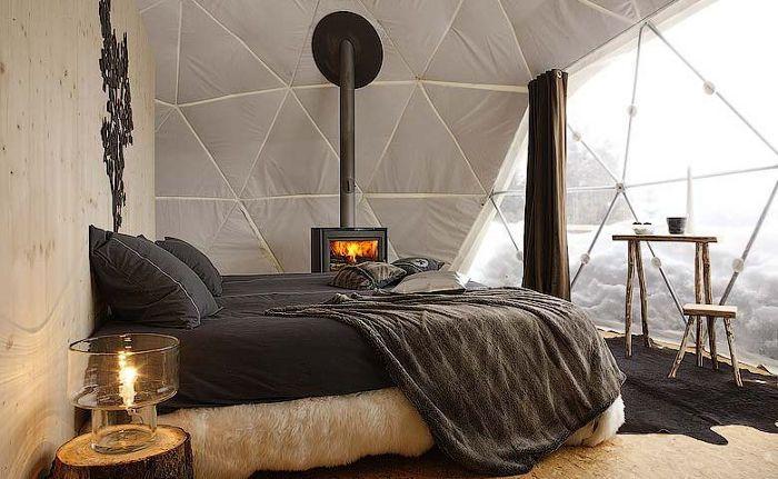 winter camping in Switzerland!