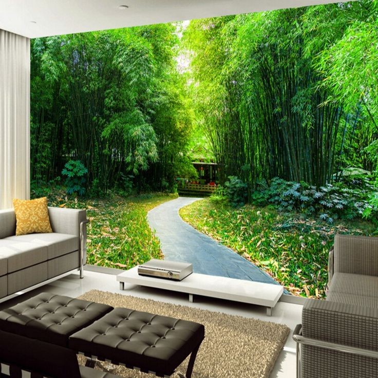 25 best ideas about 3d nature wallpaper on pinterest for Nature room wallpaper
