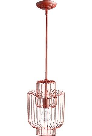 Quorum Lighting 6775-1-34 Birdcage Traditional Pendant Light QR-6775-1-34