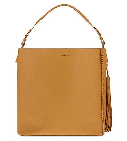 ALLSAINTS The Pearl tassel leather hobo. #allsaints #bags #shoulder bags #leather #hobo #
