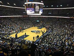 fed ex forum | FedExForum during a Memphis Grizzlies basketball game