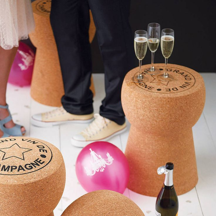 Great Champagne Cork Table by Impulse Purchase - Not on the high street