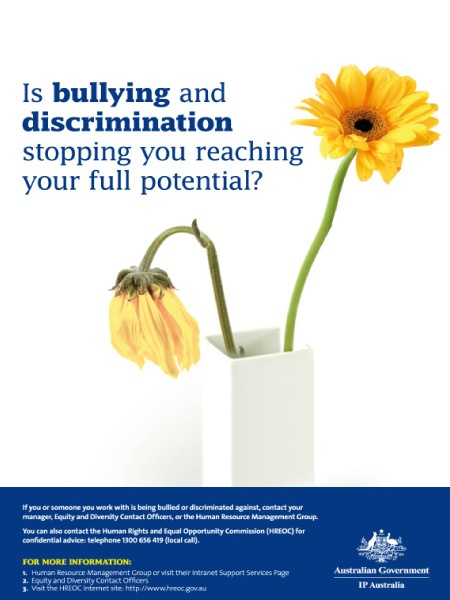 Intellectual Property Australia Anti-Bullying and Discrimination Campaign