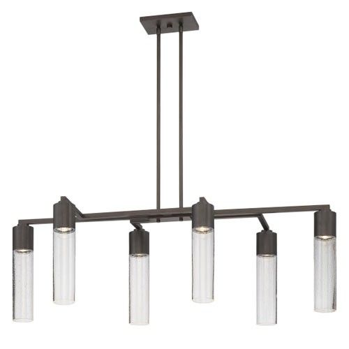 Create a dramatic look over your kitchen island with the Light Rain 6 Light Chandelier. http://www.ylighting.com/blog/george-kovacs-modern-lighting/