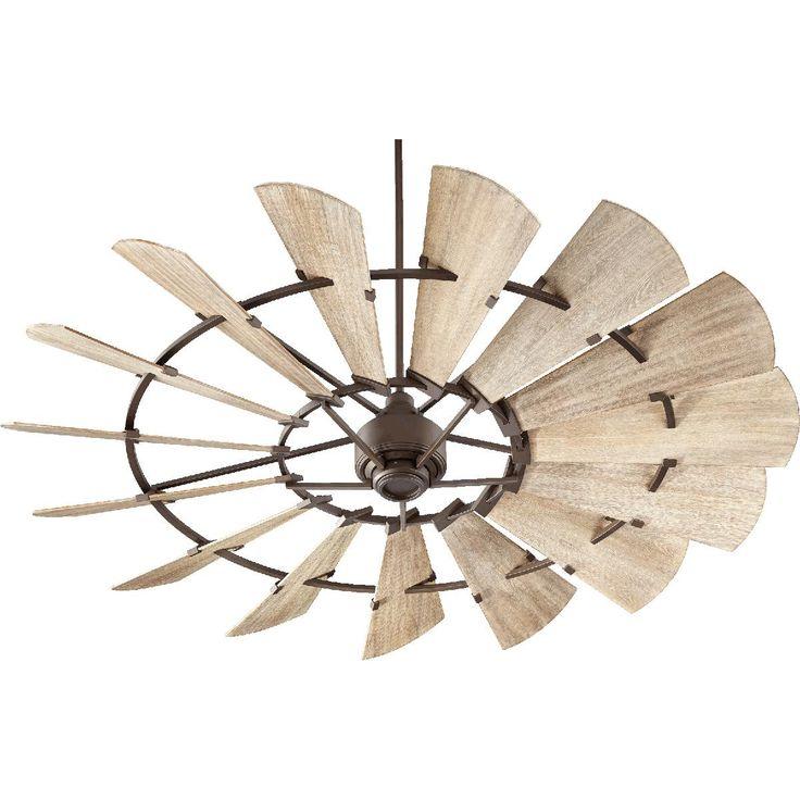 """72"""" Rustic Windmill Ceiling Fan"""