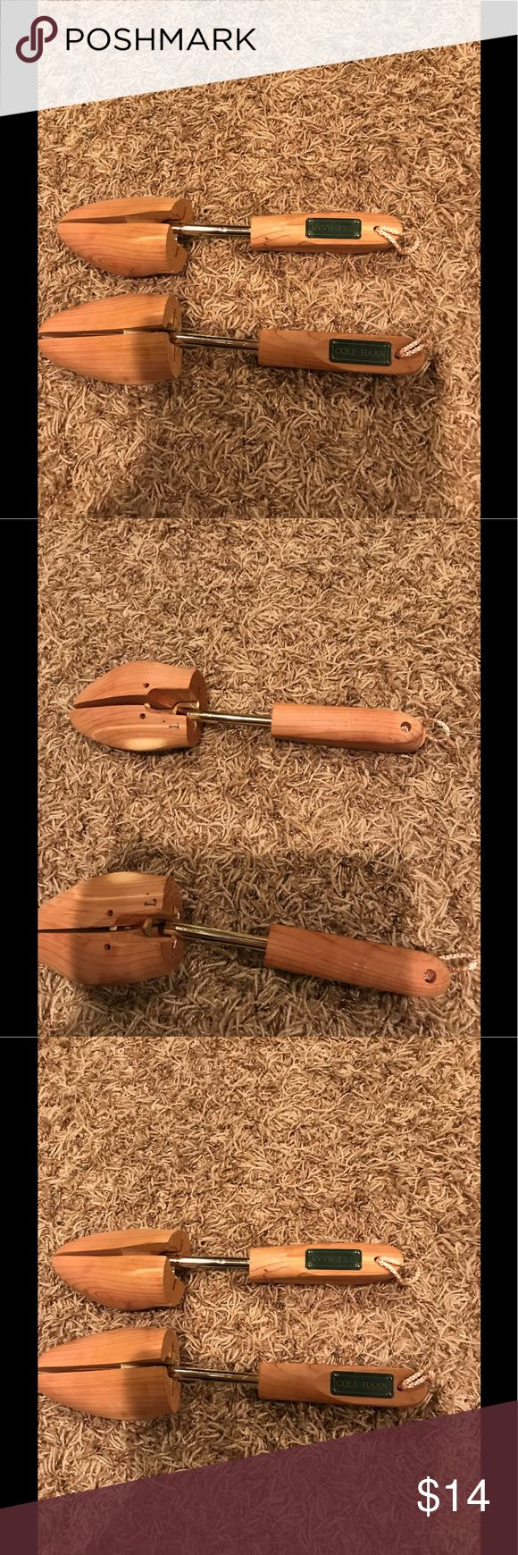 Women's cedar shoe tree by Cole Haan 100% cedar shoe tree- excellent for drawing out moisture and helping shoes to keep shape! Cole Haan Accessories