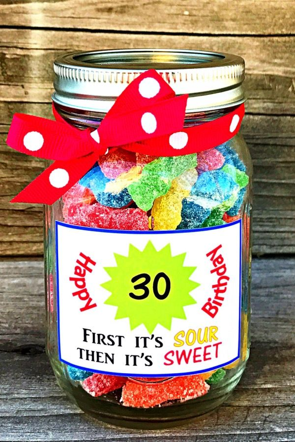Candy Birthday Gift - 30th Birthday - Sour Patch Kids - Unique and Fun Gift