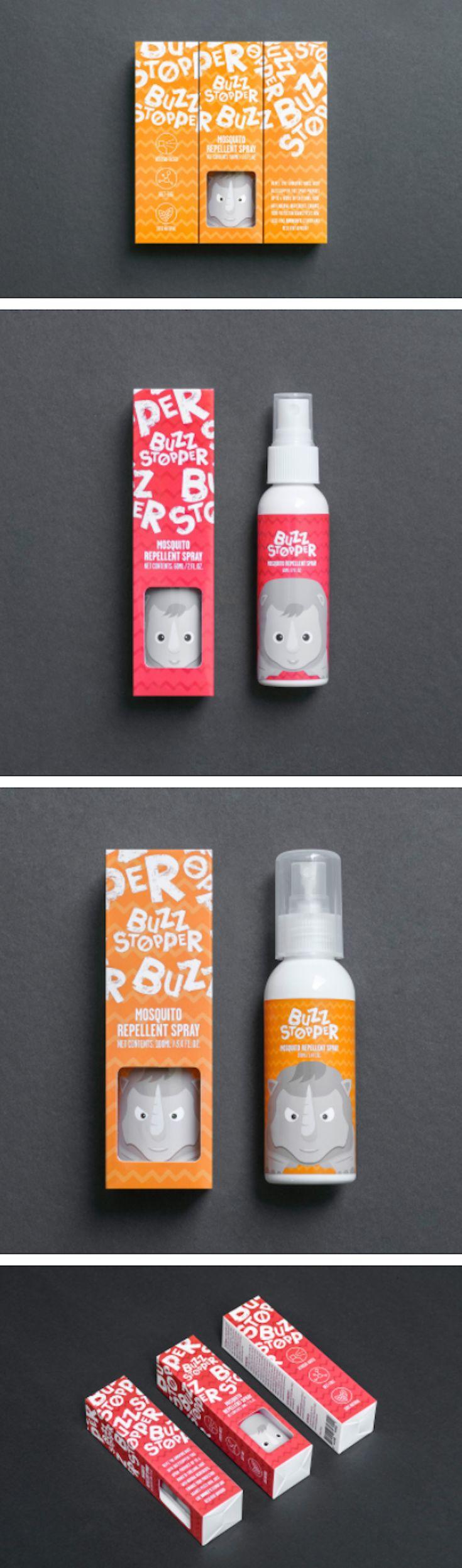 BuzzStopper spray packaging by Jay Liu