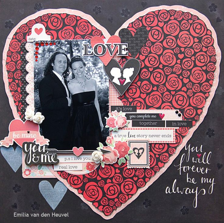 """<p>Hello everybody! Happy Valentine's Day! I hope you all have wonderful romantic time today and here is my contribution to the most romantic day of the year! There is nothing better than a big heart filled with roses and love! All of the paper and the embellishments I used on <a href="""" http://www.merlyimpressions.co.uk/blog/project-portfolio/scrapbooking/happy-valentines-day/ """"> …click to read more</a></p>"""