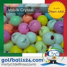 50 VOLVIK CRYSTAL COLORATE MISTE PALLINE PALLE DA GOLF USATE CAT. PEARL-AAA