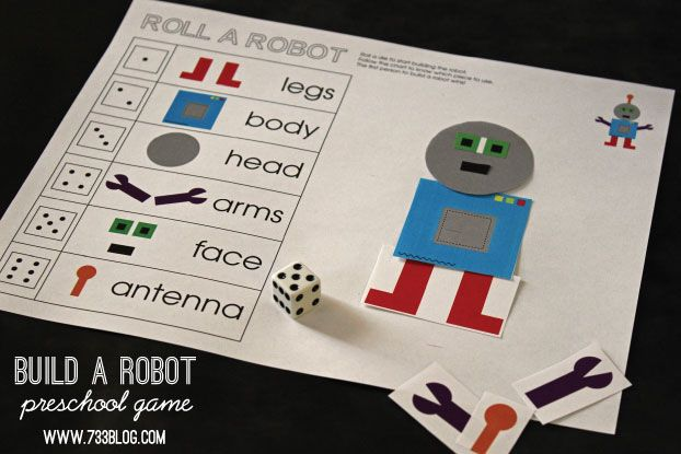 Build A Robot Preschool Game - seven thirty three