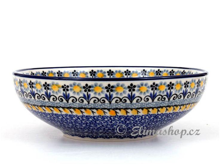 """Low bowl 17 cm (6,5"""") - *** ELIMAshop.cz ***  Handmade Polish Pottery from Boleslawiec . Bunzlauer keramik . ceramics . stoneware . ELIMAshop.cz , shipping worlwide . Artystyczna ."""