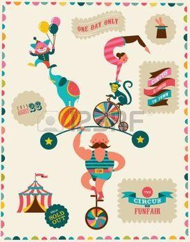 fete foraine: affiche vintage avec le carnaval, fête foraine, vecteur de cirque fond