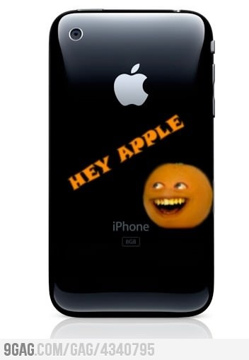 Annoying orange Iphone. Love the annoying orange! @Ryan Sullivan Maltese