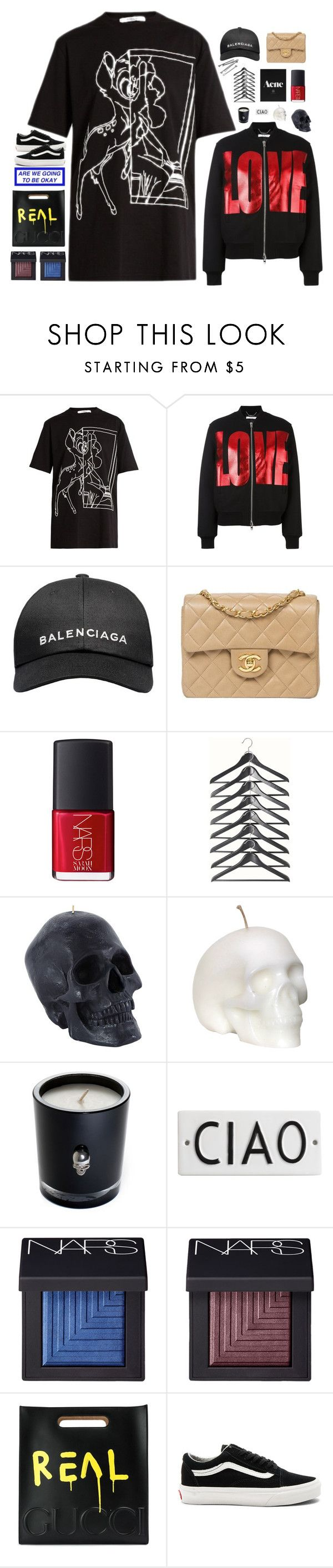 """bless up"" by lanadelnotyou ❤ liked on Polyvore featuring Givenchy, Balenciaga, Chanel, NARS Cosmetics, Lisa Carrier, Rosanna, BOBBY, Gucci, Vans and aneesastopsets"