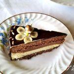 Tort cu vanilie, pralina de alune si ciocolata
