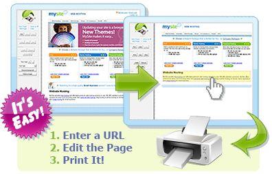 Enter a URL, Edit the Page, Print It