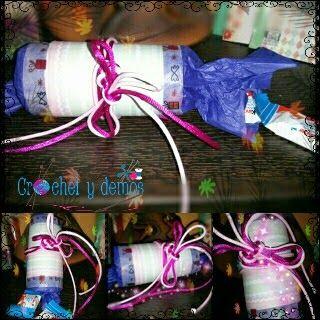 Crochet y demos: Reto # Empaquetado bonito Rollo de papel higiénico...