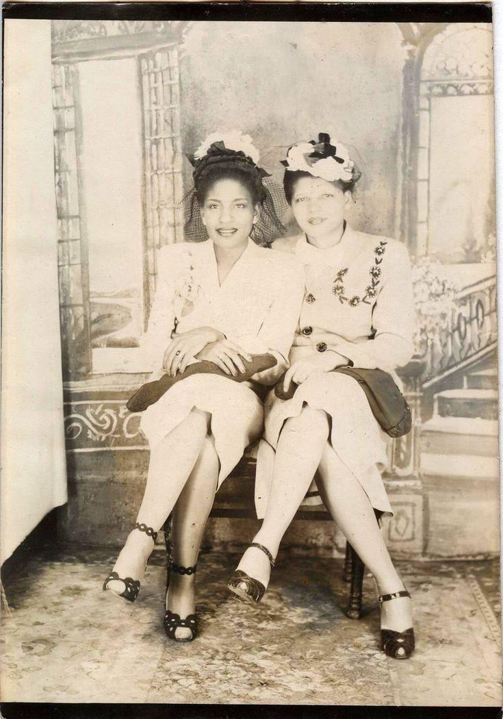 C1930s Vintage Photo Two Beautiful Classy Dressed Black African American Women   eBay