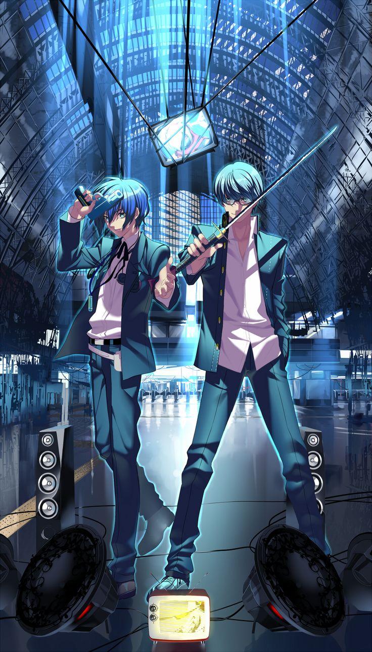 Tags: Fanart, Shin Megami Tensei: PERSONA 3, Shin Megami Tensei: PERSONA 4, Narukami Yu, Pixiv, Yuuki Makoto (PERSONA 3), Fanart From Pixiv, Hullabaloo, Mobile Wallpaper