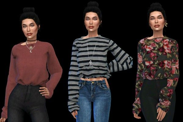 Leo 4 Sims: Rina top • Sims 4 Downloads