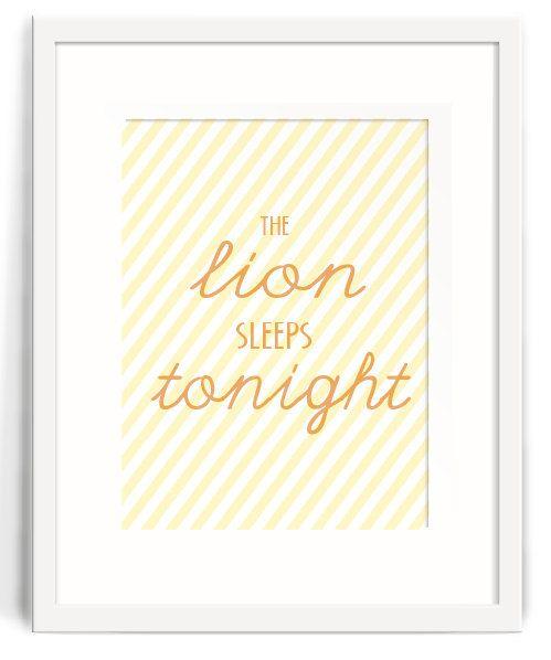 Lion King Nursery/Children's The Lion by LittleOwlLittleBear