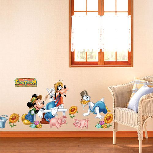 Disney Mickey Farm Wall Stickers. - Sheet Size : 100cm x 70cm ( 39.4inch x 27.6inch) $19.99