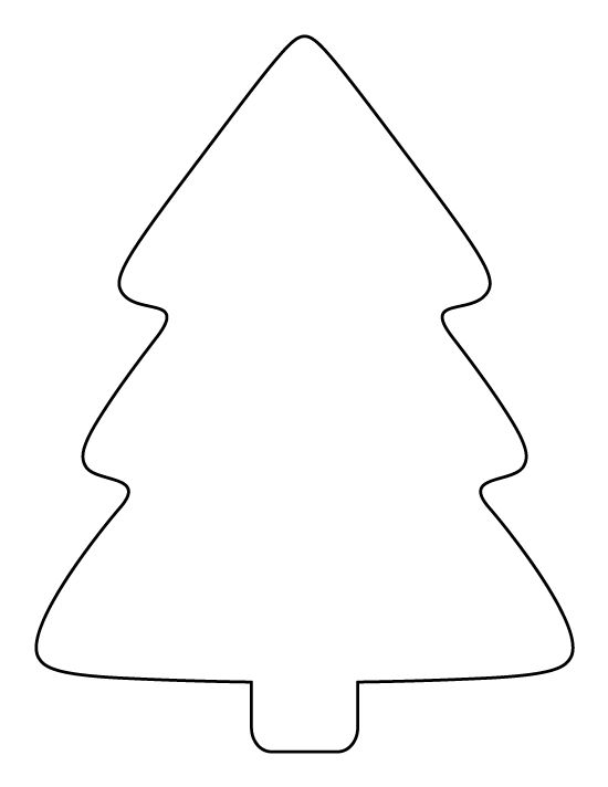 Printable Simple Christmas Tree Pattern Use The For Crafts Creating Stencils Scrapbooking