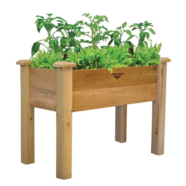 Shop Gronomics  REGB 18-34 Rustic Elevated Garden Bed at ATG Stores. Browse our potting benches, all with free shipping and best price guaranteed.