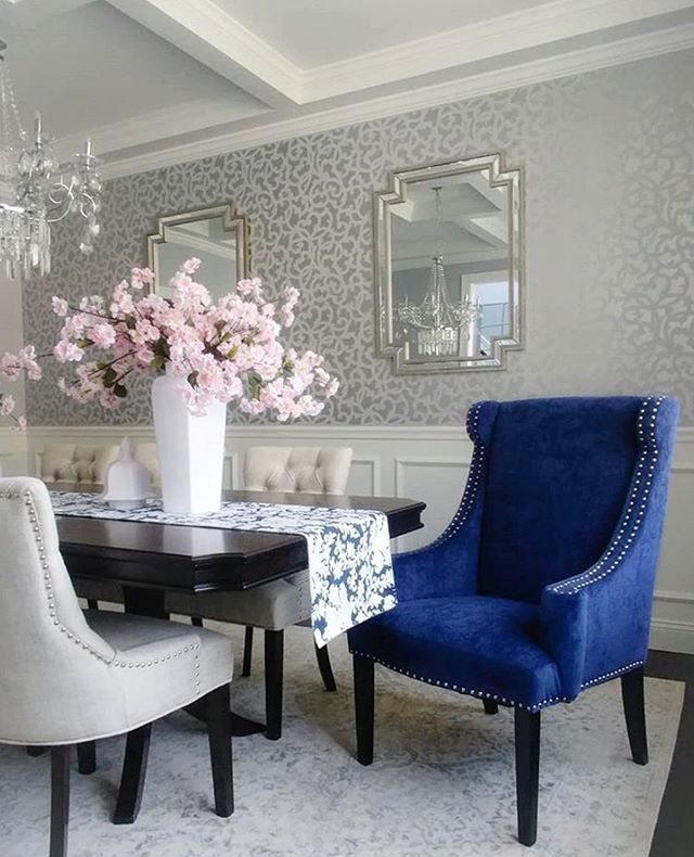 Pin On Stenciled Painted Dining Rooms