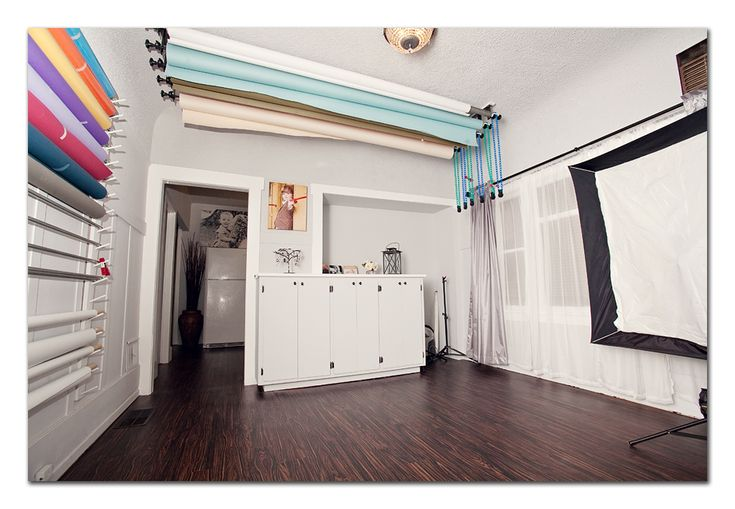 Kris Lane Photography Studio......backdrop organization/storage