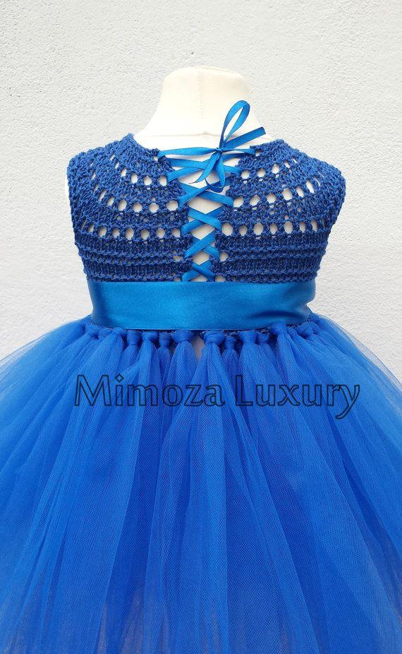 Vestido azul vestido azul pavo real vestido de por MimozaLuxury