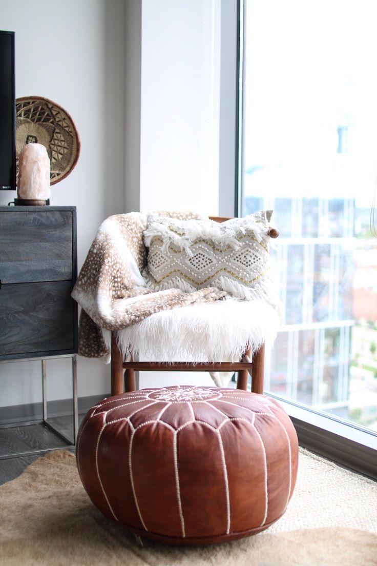 Balencia dark brown leather 5 pc living room leather living rooms - Apartment Living Room Tour Boho