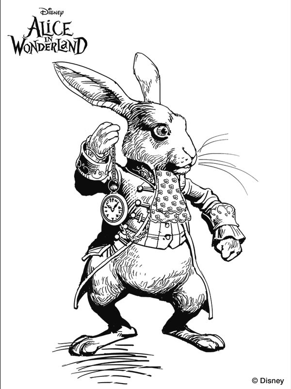 Tim Burtons Alice In Wonderland Coloring Page Were