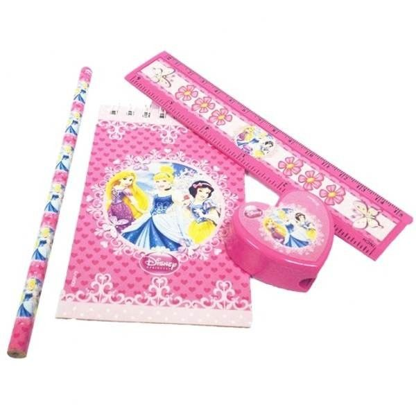 Disney Princess Sparkle Stationery Favours - Pack of 20 - Snow White Party Supplies - Childrens Party Supplies A-Z