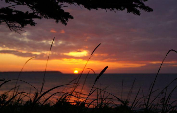 Beautiful sunrise on Kalgin island, Alaska.